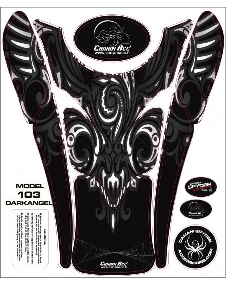 F3 TANK PADS - CRYSTAL EPOXY 103 Darkangel