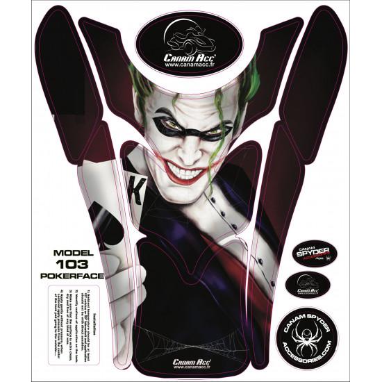 F3 TANK PADS - CRYSTAL EPOXY 103 Pokerface
