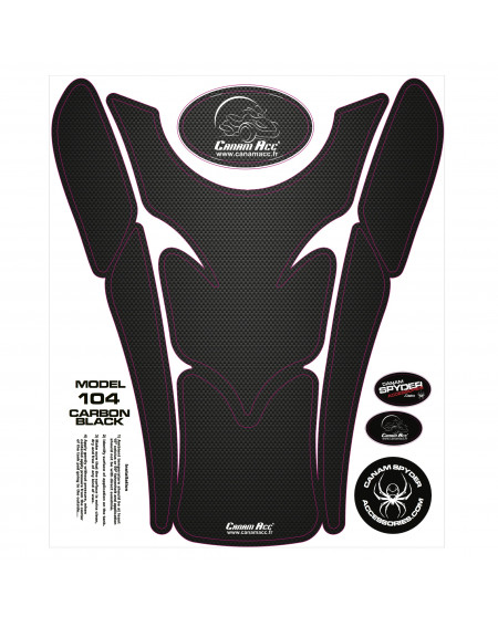 F3 TANK PADS - CRYSTAL EPOXY 104 Carbon Black