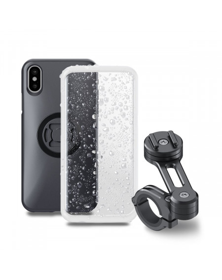 Pack complet SP-CONNECT Moto Bundle fixé sur guidon iPhone X
