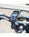 Pack complet SP-CONNECT Moto Bundle fixé sur guidon iPhone X