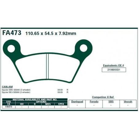 Plaquettes  FA 473V